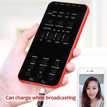 1000mAh karta dźwiękowa na żywo Audio zewnętrzny zestaw słuchawkowy Bluetooth USB z mikrofonem transmisja na żywo karta dźwiękowa na telefon PC karta dźwiękowa na żywo tanie i dobre opinie KINCO 301-400 Ohm Zrównoważony Out CN (pochodzenie) Ultraviolet Curing Paint 15 1 x 7 x 1cm F49976 Profesjonalny wzmacniacz