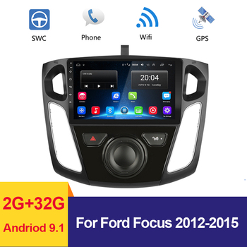 9 Car Radio Multimedia Video Player GPS Navigation for Ford Focus 2012 2013 2014 2015 Android 9.1 2G+32G Car Stereo Autoradio image