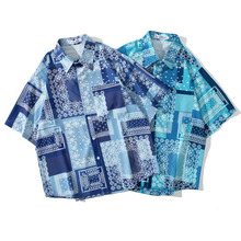 Men Shirt Short Sleeve 2021 New Arrival Summer Loose Retro Pocket Male Shirt Thin Comfortable Ethnic Chinese Style S69