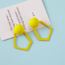 Womens Acrylic Yellow Irregular Earrings 2019 Elderly Fashion Jewelry Party Gifts
