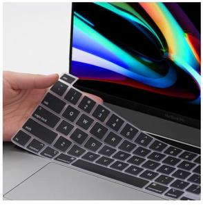 US Silicone Keyboard Cover Light Shine Through Black/ Clear Keyboard Cover Sticker for MacBook Pro 16 model A2141 Pro13 A2251