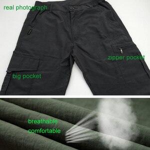 Image 5 - Мужские брюки для походов на открытом воздухе, мужские летние брюки для скалолазания, рыбалки, быстросохнущие спортивные водонепроницаемые брюки в армейском стиле, AM005