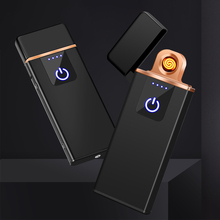 Fingerprint Induction Electric Lighter USB Charging Windproof Creative Personality Male USB Electronic Cigarette Lighter