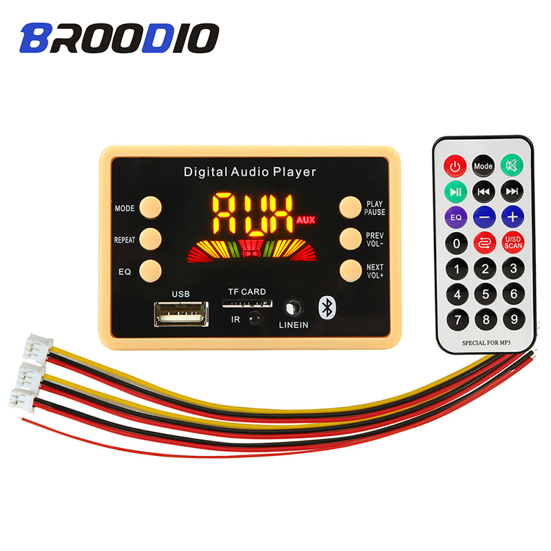Bluetooth 5.0 MP3 Decoder Decoding Board Module 5 V 12v Car USB MP3 Music Player WMA WAV TF Card Slot USB FM Remote Board Module