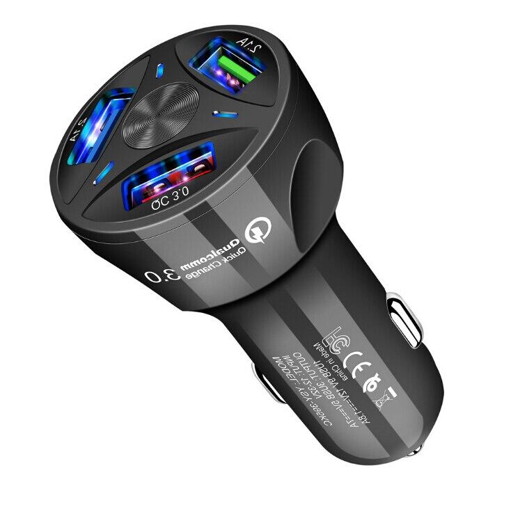Автомобильное зарядное устройство USB Quick Charge 3 порта для Mitsubishi Pajero Lancer Outlander Eclipse Mirage asx EVO