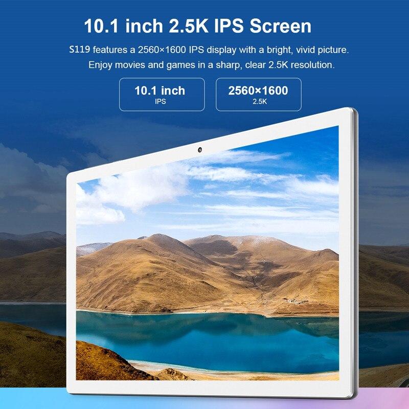 Presente livre tablet capa 4g lte 10.1 polegada 2.5d tablet pc 10 deca núcleo mtk6797 8 gb ram 128 gb 256 rom 2560*1600 android 8.0 - 6