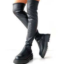 Botas por encima de la rodilla para mujer, zapatos informales a la moda, de ocio