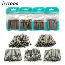 "HYTOOS 50Pcs Diamond Nail Drill 3/32"" Rotary Nail Drill Bit Cuticle Clean Burr Manicure Cutter Nail Mills Accessories Tool(China)"