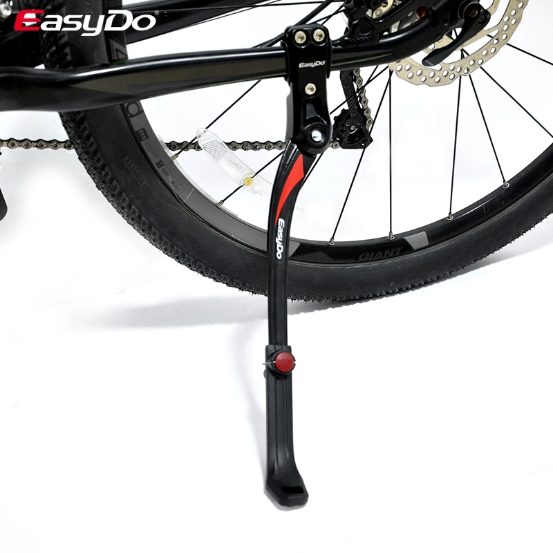 EasyDo Lightweight Bike Stand Adjustable Aluminum Alloy Bike Side Kick Stand Mountain Bike Parking Rack Bicycle Stand