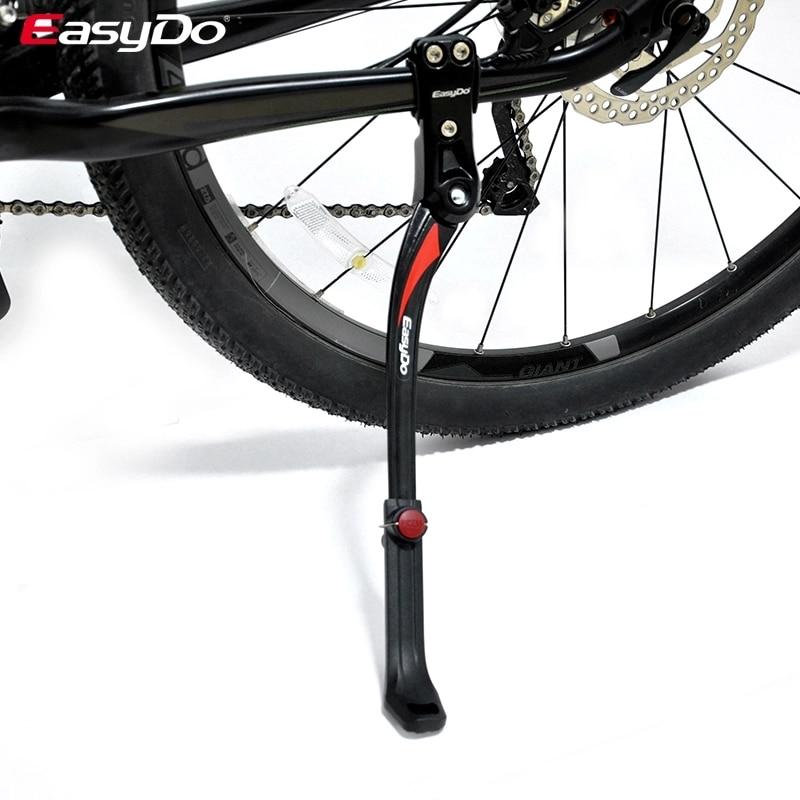 EasyDo Lightweight Bike Stand Adjustable Aluminum Alloy Bike Side Kick Stand Mountain Bike Parking Rack Bicycle Stand