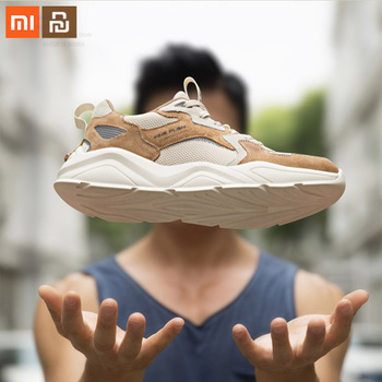 Xiaomi mijia trend retro old shoes leather stitching slip wearable casual shoes comfortable rebound men's sports shoes