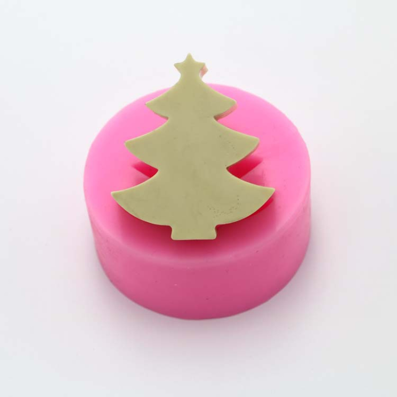 Silicone Soap Candle Mold 3D Christmas Tree Candle Making Tools DIY Handmade Plaster Aroma Crafts Silicone Cake Molds Supplies