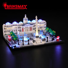 BriksMax Led Light Up Kit For Architecture Trafalgar Square Building Blocks Compatible With 21045 (NOT Include Model)