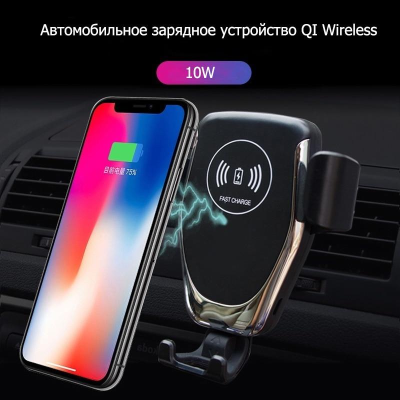Chargeur Voiture Voiture sans fil Chargeur pour Samsung Galaxy Note 10 Charge rapide Carregador Sem fio universel QI Draadloos Oplader