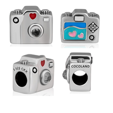 Square Beads 100% 925 Sterling Silver Sentimental Snapshots Charm for Jewelry Making Fit Charms Bracelets free shipping YK067