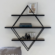 Bracket triangle-shaped shelf is worn on wall of north Europe, tie yi setting adornment