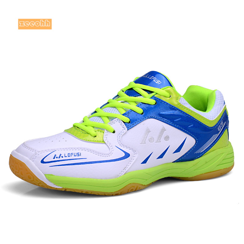 Men Women Badminton Shoes High Quality Soft Muscle Anti-Slippery Training Professional Sneakers Women Sport Badminton Shoes Plus