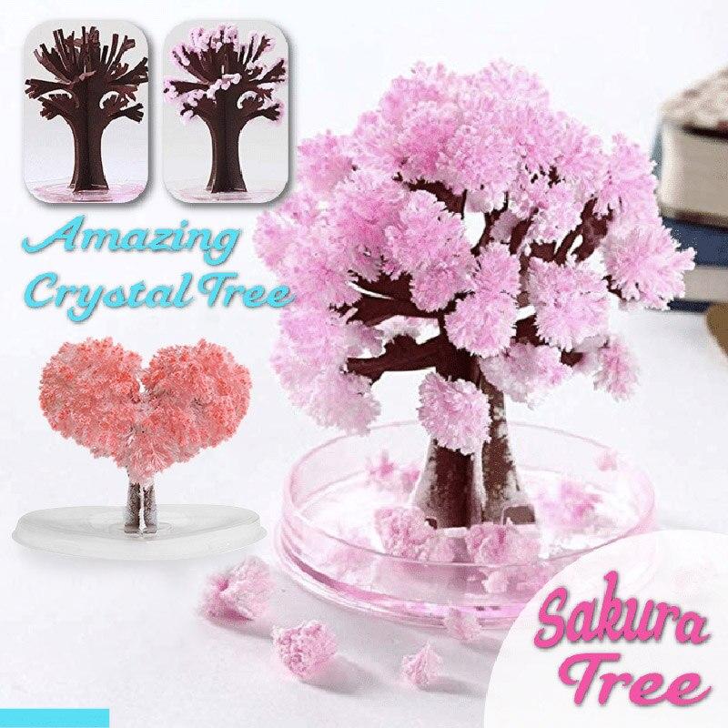 Волшебное растущее дерево бумага Сакура Хрустальные Деревья настольные вишневые цветы игрушки MYDING