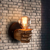 Vintage Fist Resin Wall Lamp European Style Bar Restaurant Coffee Shop Home Decoration Accessories Left Right Hand Wall Lamp