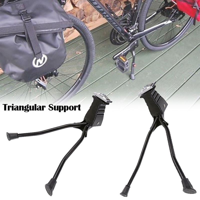 Bike Bicycle Middle Install Double Leg Kickstand Alloy Repairing Parking Stand