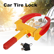 Car Tire Lock Heavy Duty Car Wheel Lock Clamp Boot Tire Claw Trailer Car Truck ATV RV Carts Automotive Boat Anti Theft Lock