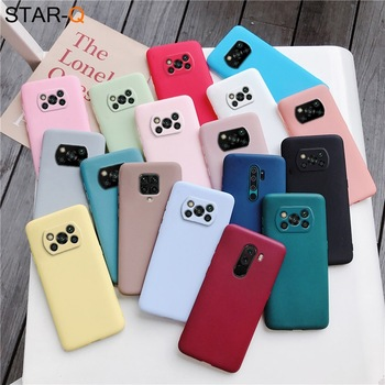Candy Color Frosted Silicone Phone Case For Xiaomi Poco X3 Nfc F2 M2 Pro X2 Pocophone F1 global Matte Soft Tpu Back Cover Cases