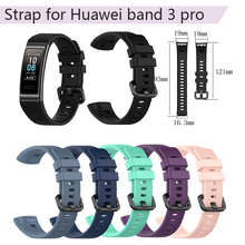 Adjustable Watch Band for Huawei Band 3 Pro Silicone Strap Wristband for Huawei Replacement Smart Bracelet Watchband Accessories