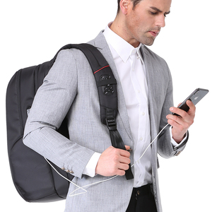 Image 3 - KINGSONS High Quality Laptop Backpack Men Women Fashion Business Casual Travel Backpack Shoulder Bag With External USB Charge
