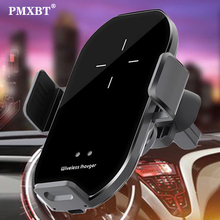 Qi Car Wireless Charger For iPhone 11 Pro XS MAX XR 8 10W Fast Wireless Charging Car Phone Holder Air Vent Mount Auto Induction qi car wireless charger for iphone 11 pro xs max xr 8 10w fast wireless charging car phone holder air vent mount auto induction