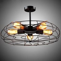 Industrielle Vintage Metall Fan Form Decke Licht Einzigartige Wohnzimmer Decke Kronleuchter Geeignet Für Innen Beleuchtung|Deckenventilatoren|Licht & Beleuchtung -