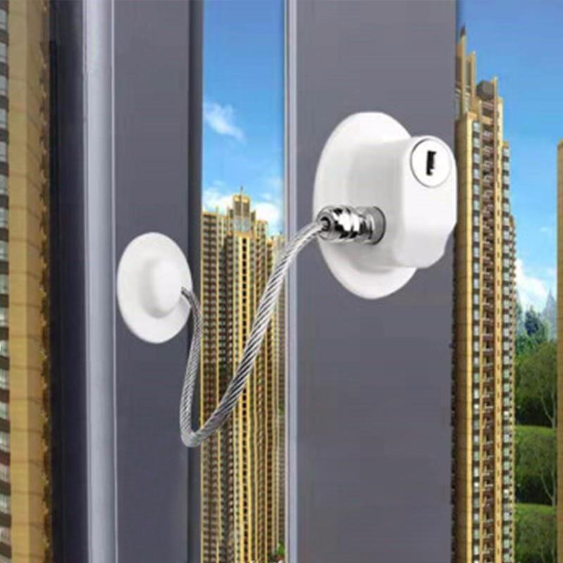 2 Pcs/lot Child Protection Window Lock Child Locks Protection For Windows From Children Window Stop Lock Baby Safety Castle