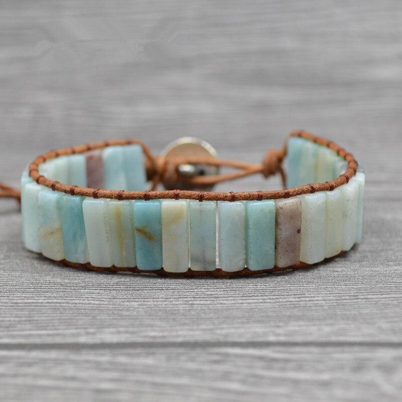 Armbanden Voor Vrouwen Bohemian Bracelets Tube Natural Stonse Single Wrap Bracelet Beaded Couples Bestfriend Gifts Dropship