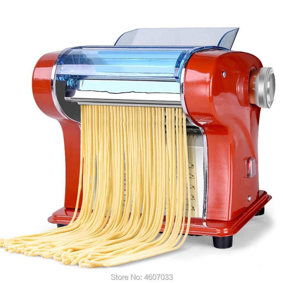 Electric Noodle Press Machine Pasta Maker Homeuse Stainless Steel Dough Cutter Dumplings Roller Noodles Making Flour Wrappings