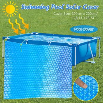 Rectangular Swimming Pool Cover Protector Foot Above Ground Blue LAnti-evaporation And Anti-corrosion Insulation Film 300x200cm