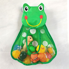 Toy-Organizer Pocket Mesh Toiletries Frog Bathroom-Wall-Suction Duck Neaten-Bags Baby