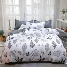 AB side bedding set 3/4pcs duvet cover flat sheet pillowcase polyester bedclothes home textile