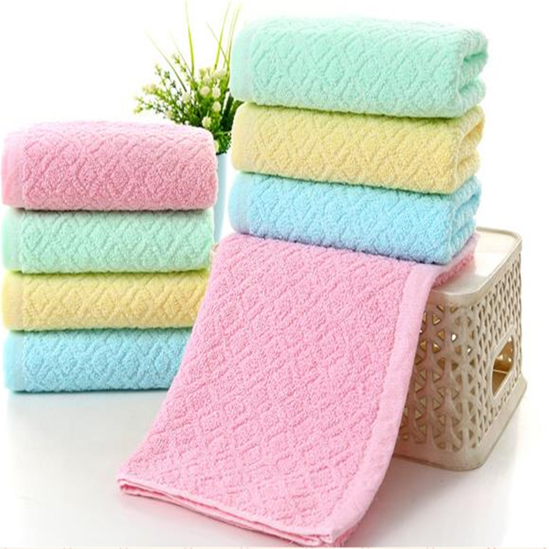 Custom LOGO Towel Cotton Plain Jacquard Wash A Face To Face Towel 0004