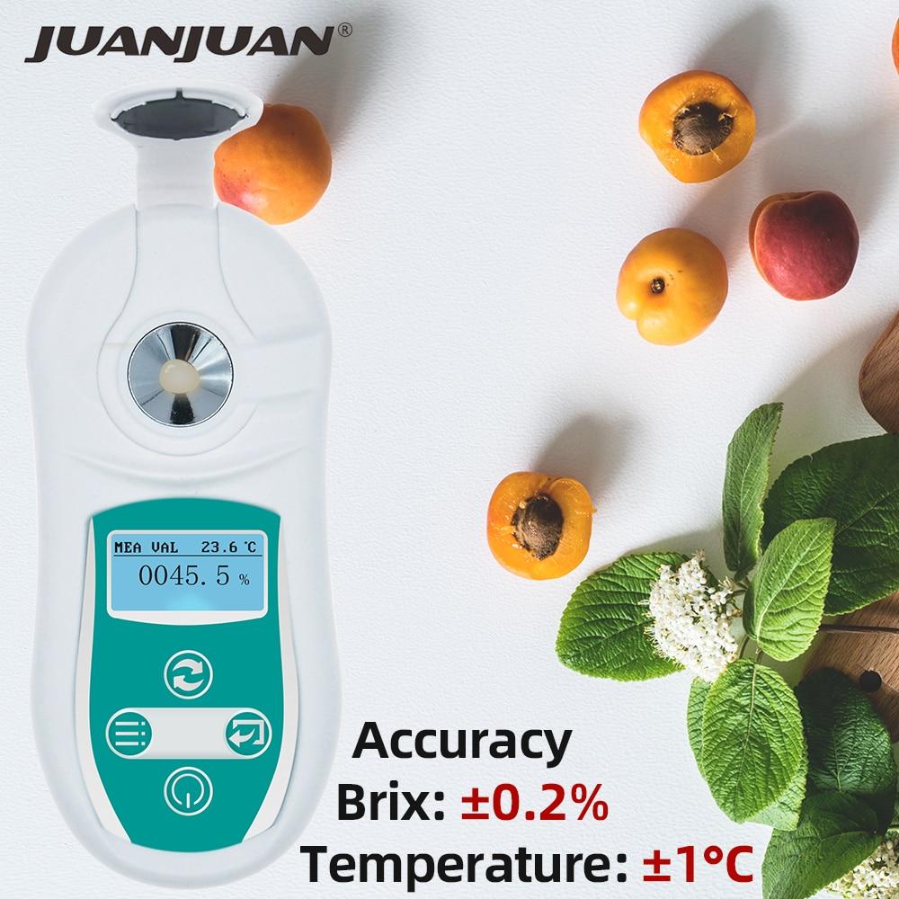 0-53% Digital Brix Refractometer Juice Honey Test Meter Fluid Brix Refractometer Juice Sugar Content Measuring Instrument 40%OFF