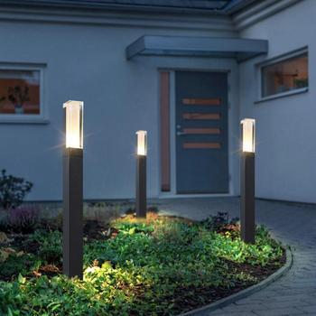 4 sztuk 12W oświetlenie zewnętrzne wodoodporne IP68 lampka LED na trawnik LED zewnętrzne słupek podłogi światło ogrodowe ścieżka dziedziniec oświetlenie drogowe tanie i dobre opinie YRANK CN (pochodzenie) LED Exterior Bollard light ROHS IP67 Aluminium 85-265 v Waterproof led lawn light Żarówki led Nowoczesne