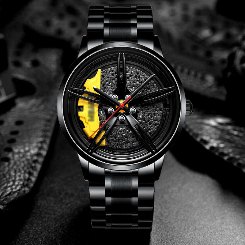 Nektom relógios masculinos esportes TE-37 relógios de quartzo à prova dwaterproof água esporte aro hub roda relógio de pulso do carro relógios de quartzo masculino