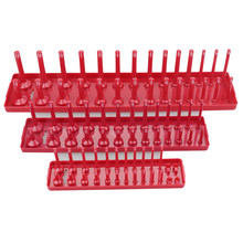 3pcs/set Storage Tool Shelf Stand Accessories Organizer Socket Tray Metric SAE 1/4'' 3/8'' 1/2'' Rack Holder Home Workshop(China)