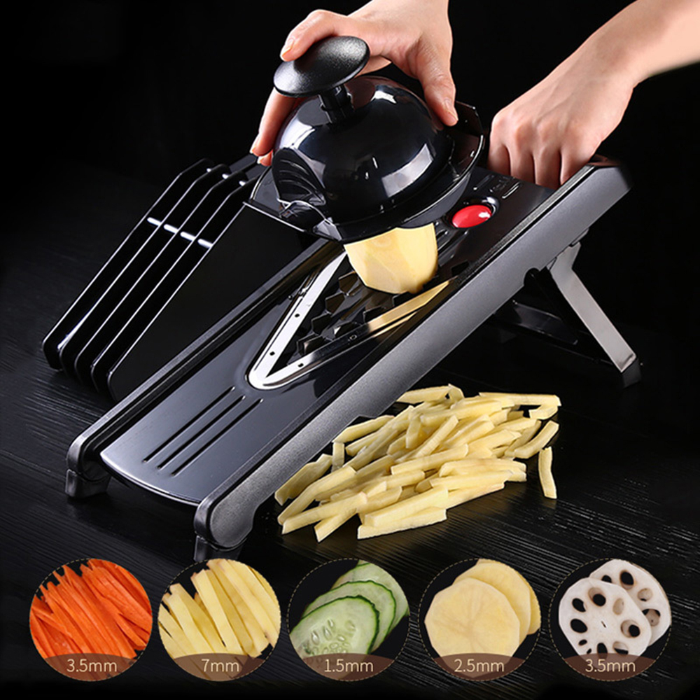 Image 3 - New 5 In 1 Vegetable Slicer Lemon Potato Chip Cutter Carrot 