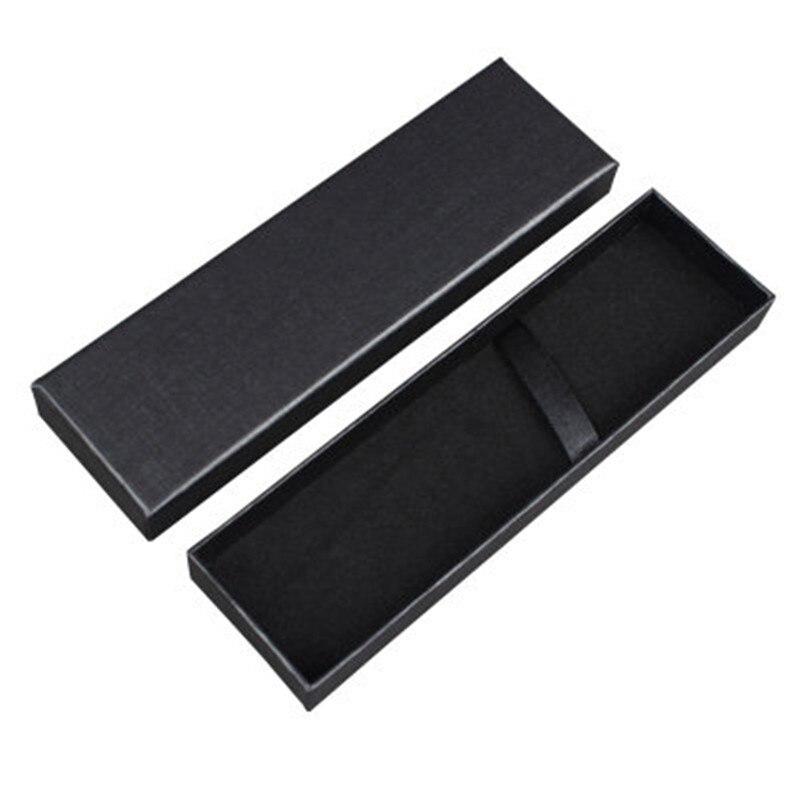 1pc Creative Black Pen Packing Box Business Fountain Pen Box Pencil Cases Box For School Stationery Escolar Gift Box