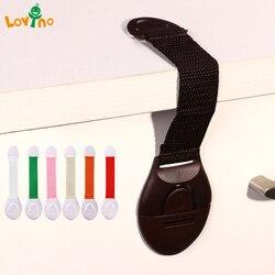 10 teile/los Kind Lock Schutz Von Kinder Locking Türen Für kinder Sicherheit Kinder Kunststoff Lock beste verkauf