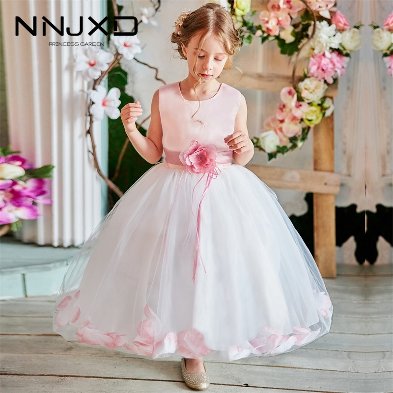 Summer Dress for Children Flower Girls Dress Party Wedding Dress Elegent Princess Vestidos Birthday Party Costumes Kids Clothing