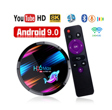 цена на For H96 Max X3 S905X3 Smart TV Box For Android 9.0 Top Box Media Player 5G Dual Band Wifi 4G 32G/64G 4K HDR Max Box LED Display