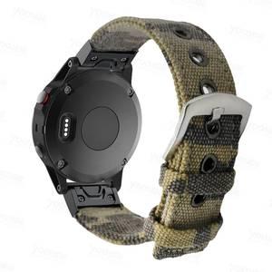 Image 4 - Fenix 6 22mm 26mm  Wristband Retro Nylon Nato Quick Fit Watch Band Strap for Garmin Fenix 5 Plus//935/Approach S60/Fenix 5X Plus