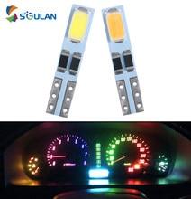 10 sztuk T5 W3W W1.2W LED samochodów Led kontrolki deska rozdzielcza Panel oświetlenie czerwony ciepły biały niebieski kolor wnętrze auta żarówka 12V lampa