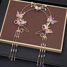 Hanfu – épingle à cheveux, glands, couronne de fleurs, couronne vierge pour cheveux, accessoires pour cheveux féeriques, Halo pour femmes