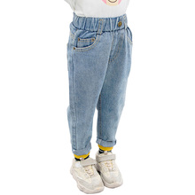 Jeans Girl Toddler Autumn Spring Solid Casual